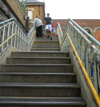 Long flight of stairs