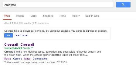 Google text for crossrail