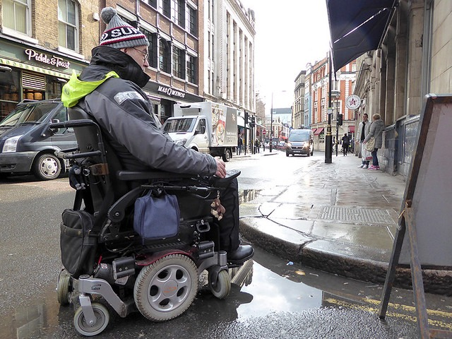 No welcome for wheelchair users in Soho