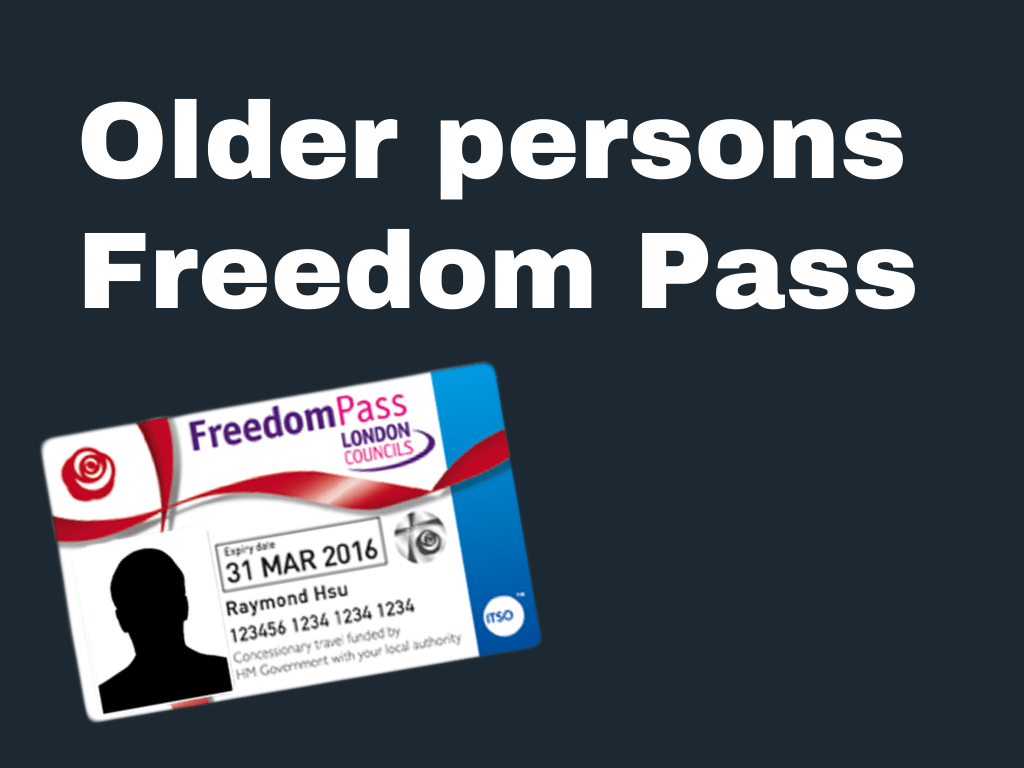 Older persons Freedom Pass