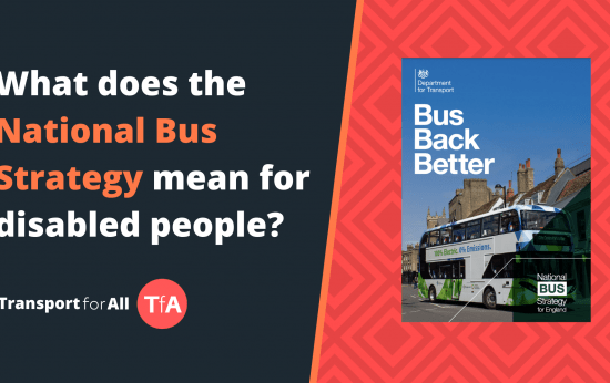 What does the National Bus Strategy mean for disabled people?