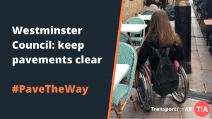 Westminster Council: keep pavements clear. #PaveTheWay