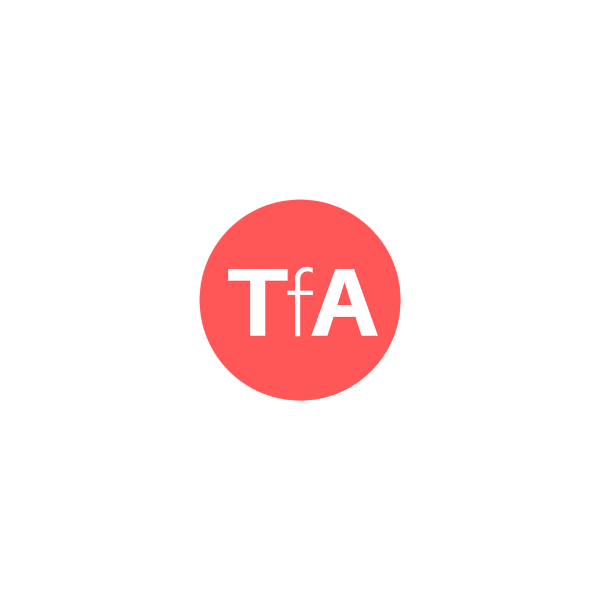 Venn Diagram with TfA's logo at the centre. 4 rings intersecting, labelled 1. Transport focussed. 2 Led by deaf and disabled people. 3. Pan-impairment. 4. National Reach.