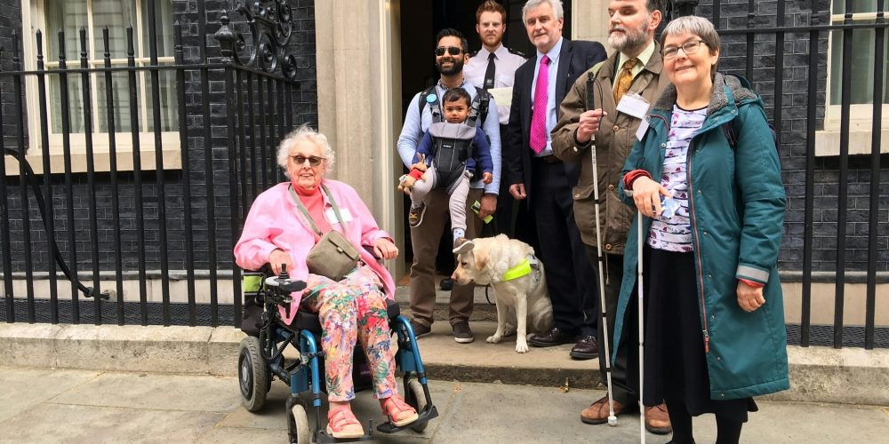 TfA campaigners hand a petition into 10 Downing Street